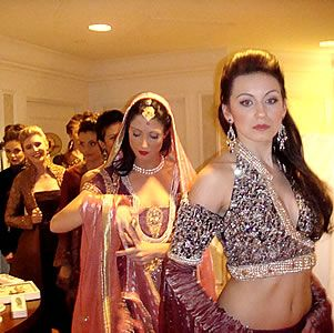 Canadian Models In Pakistani Designer Collection