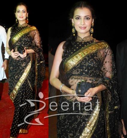 Black Indian Designer Saree