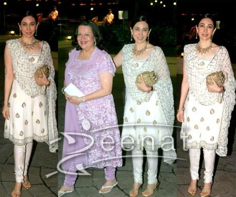 Indian Churida Salwar Kameez on Karisma Kapoor