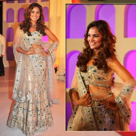 Lara Dutta In Bridal Wear Lehenga Choli
