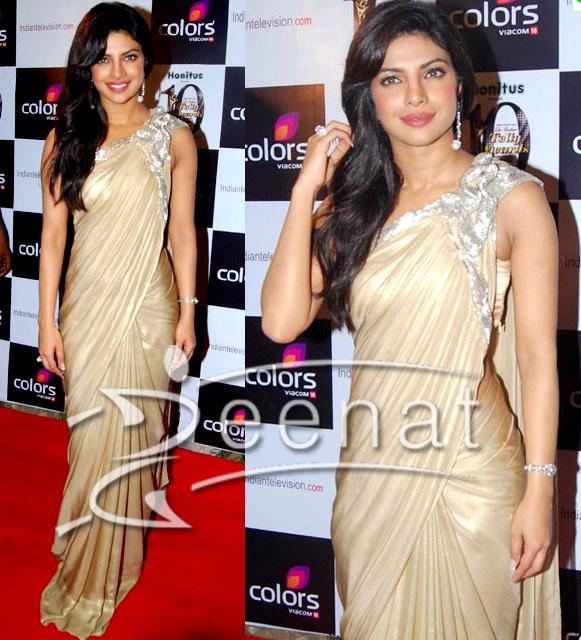 priyanka chopra wearing saree - photo #35