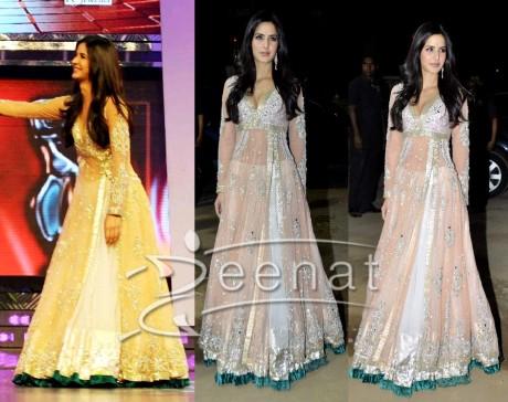 Royal Designer Frock Style Katrina Kaif