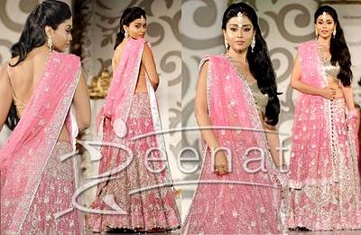 Indian Pink Lehenga Style