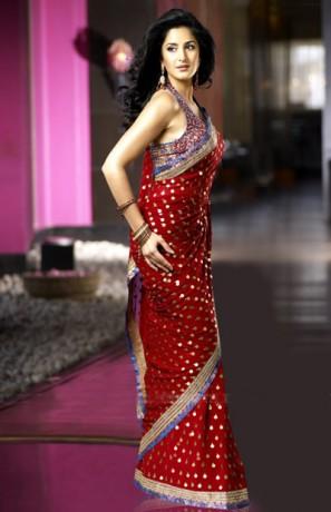Katrina Kaif Bollwyood Fashion Saree