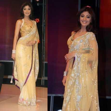 Manish Malhotra Sarees On Shilpa Shetty
