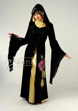 Designer Pointed Sleeves Abaya Fashion