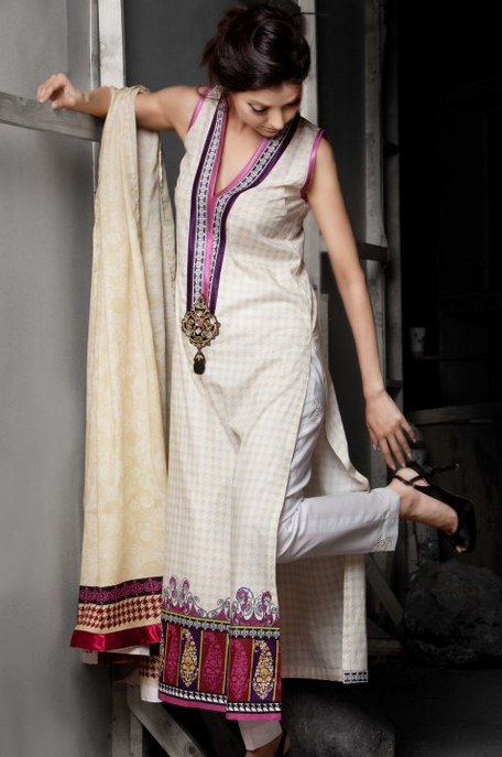 Parallel Suit | Mahnoush Summer Collection 2011 | Zeenat Style