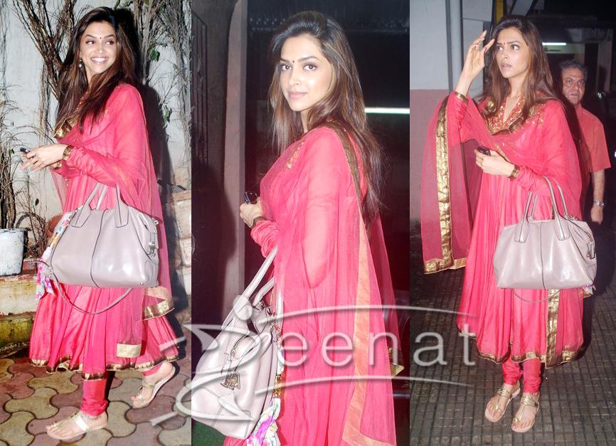 Deepika In Red Anarkali Salwar Kameez | Zeenat Style