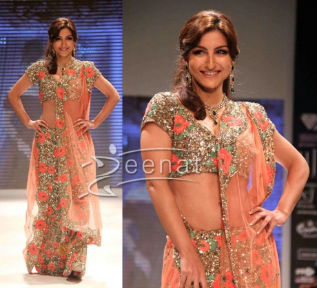 Soha Ali Khan In Embroidered Saree