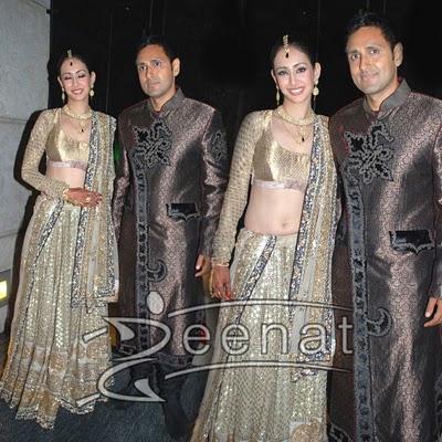Parvin Dabas & Preeti Jhangiani Wedding Lehenga Choli Style