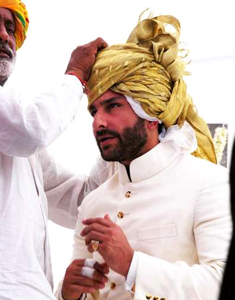 Saif Ali Khan In Sherwani Black
