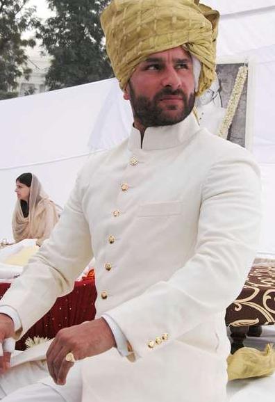 Saif Ali Khan In White Sherwani The New Nawab Of Pataudi