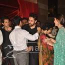 Aamir Khan hugging nephew Imran Khan at Ritesh Deshmukh Genelia Wedding Reception