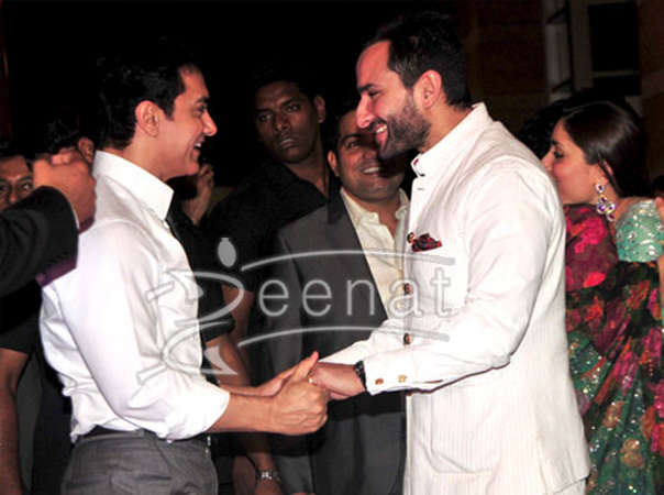 Saif and amir shake hand
