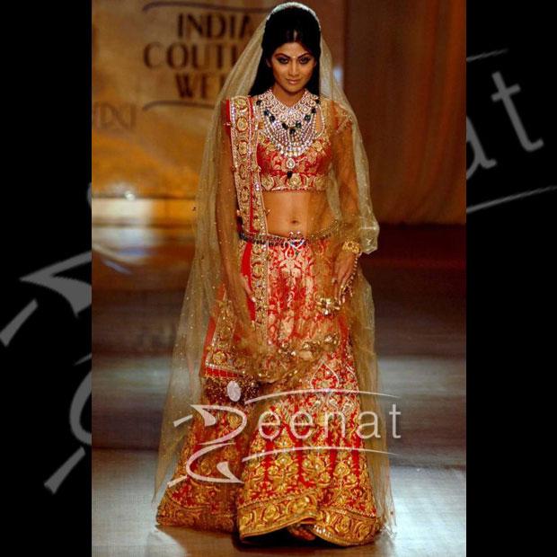Wedding Lehenga Choli Sharara Shilpa Zeenat Style