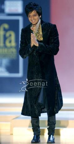 Ritesh Deshmukh In Black Sherwani Style