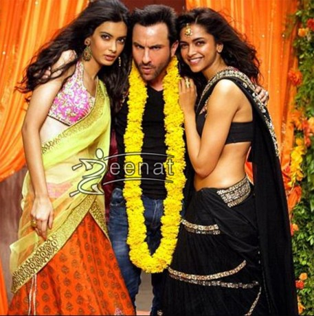Deepika & Diana Penty in Cocktails - Sarees