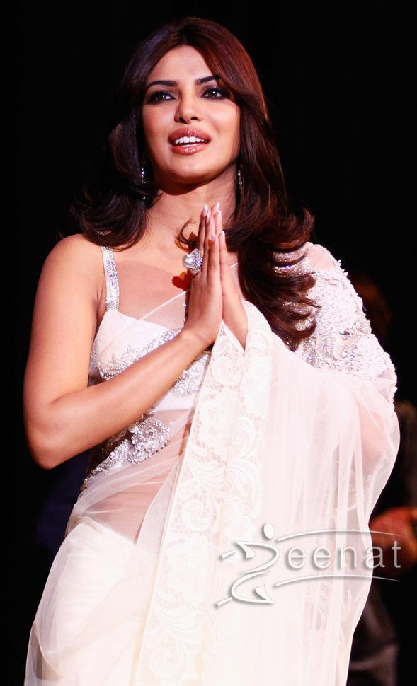 Priyanka Chopra In White Indian - 139.9KB