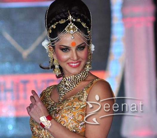 Sunny Leone In Mango Yellow Lehenga Zeenat Style