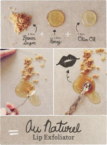 DIY Natural Sweet Lip Exfoliator