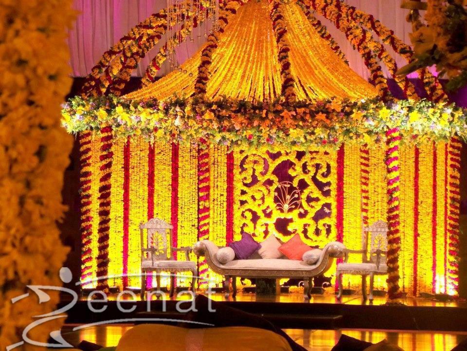 Atif Aslam Mehndi Function Stage Zeenat Style