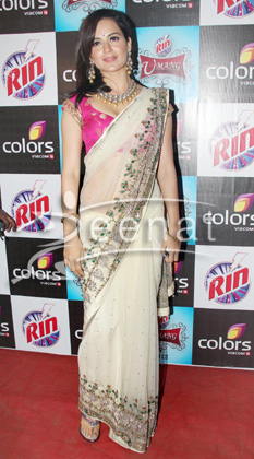Kangana Ranaut In Chiffon Banarsi Embroidered Saree