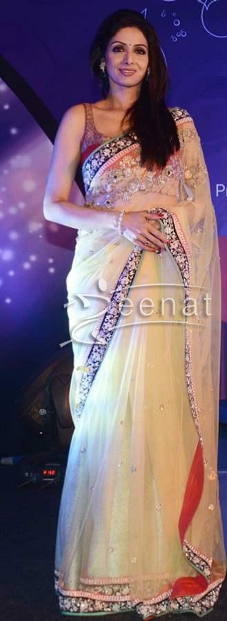 Sridevi-Timelessly-Beautiful-in-Sheer-Embellished-Sabyasachi-Sari