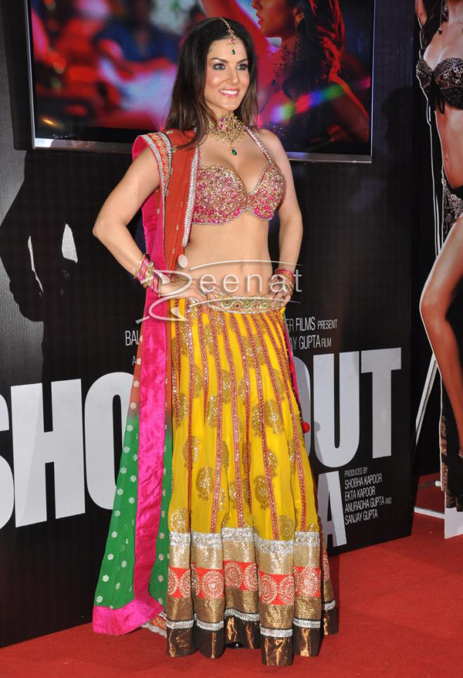 Sunny Leone In Traditional Lehenga Choli