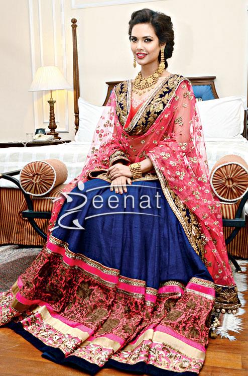 Esha-Gupta-In-Manish-Malhotra-Bridal-Lehenga