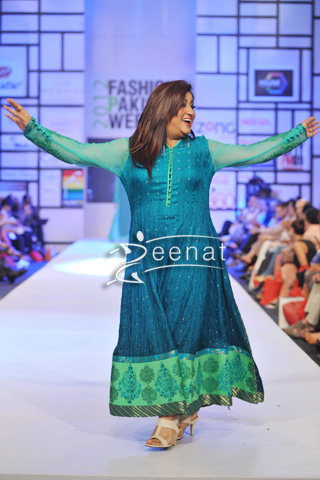 Hina Dilpazer In Designer Nomi Ansari Dress