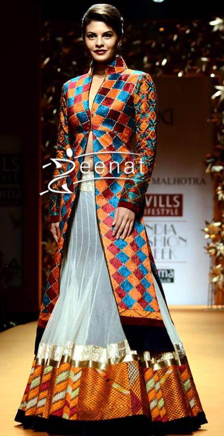 Jacqueline Fernandes In Designer Manish Malhotra Lehenga Jacket