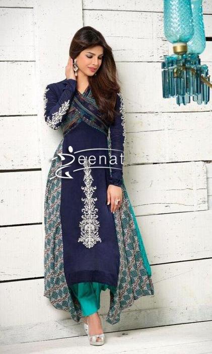 priyanka chopra in anarkali salwar kameez zeenat style