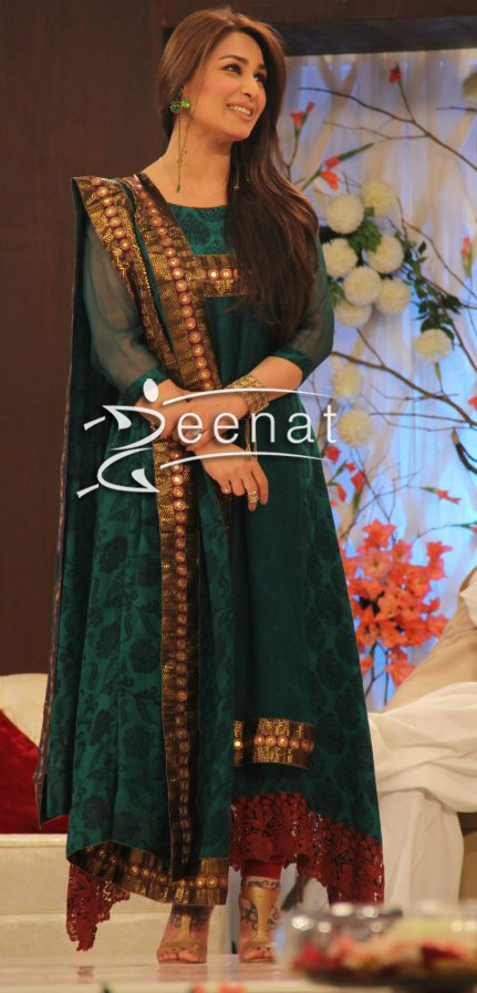Reema-Khan-In-Green-Anarkali
