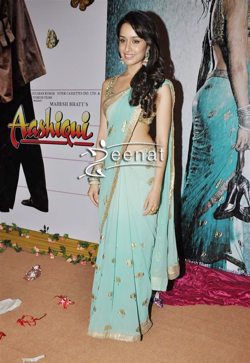 Shraddha Kapoor In Blue Indian Saree