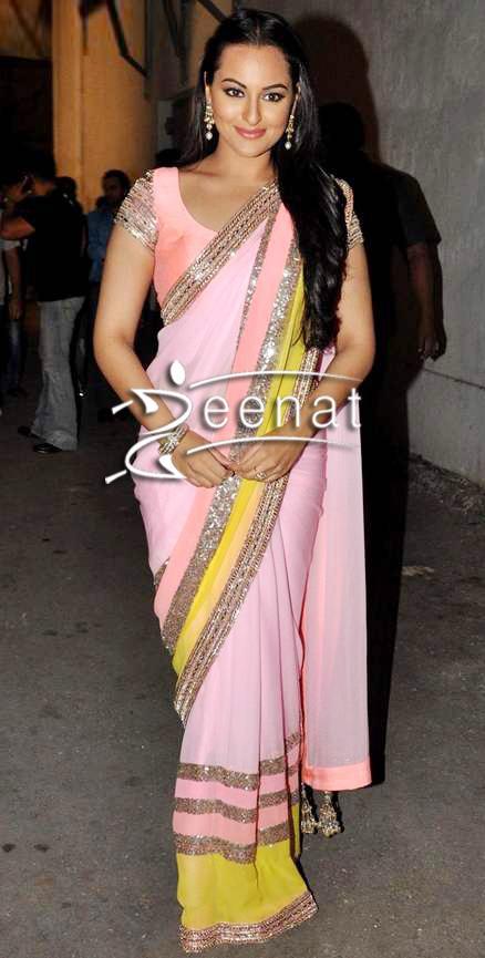 Sonakshi Sinha In Designer Manish Malhotra Saree | Zeenat ...