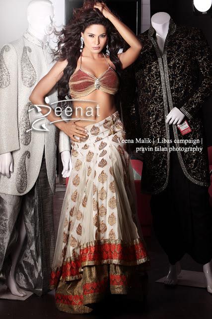 Veena Malik In Deisgner Riyaz Gangji Lehenga Choli