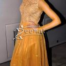 Deepika Padukone in mustard golden Anarkali Churidar