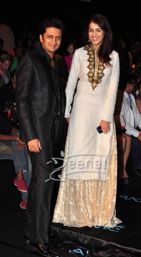 Genelia Dsoza at Vikram Phadnis Show Lakme Fashion Week 2013