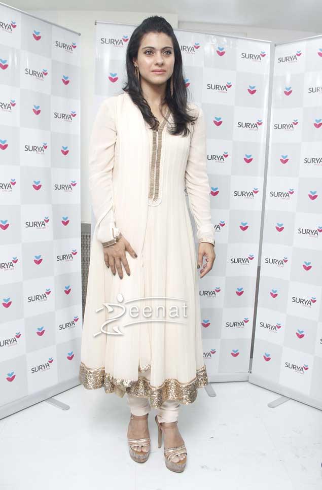 Kajol Devgan in Anarkali Churidar Suit