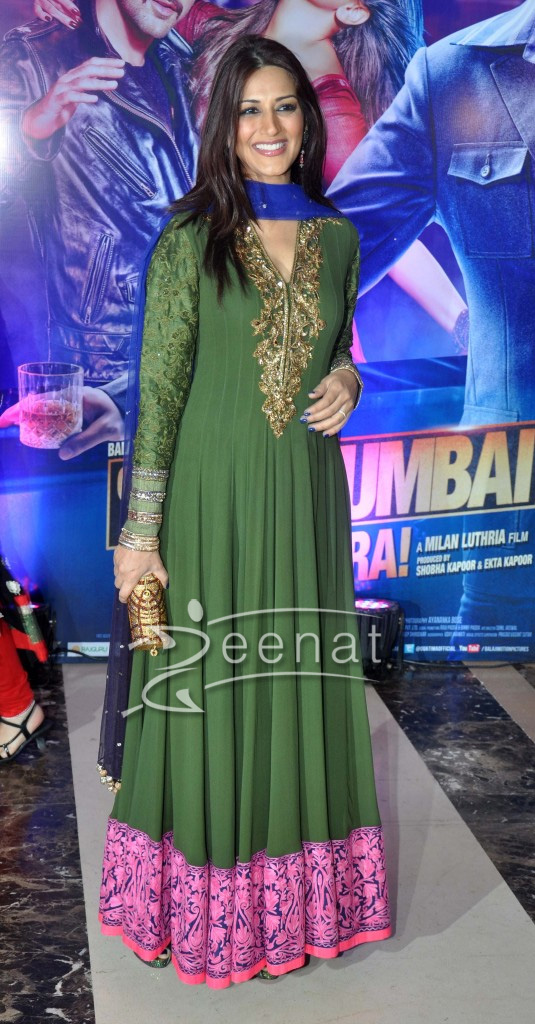 Sonali Bendre In Designer Floor Lenght Anarkali Suit