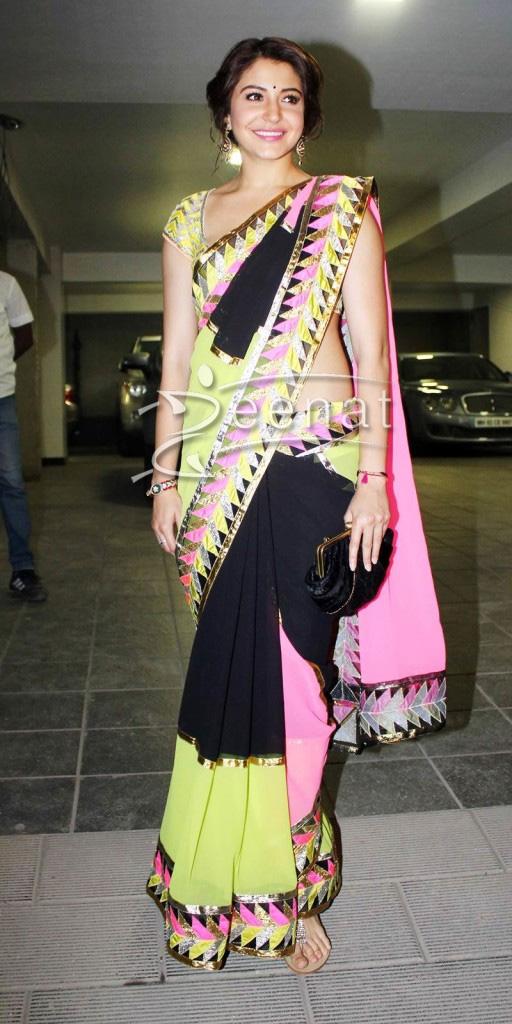 Anushka Sharma In Designer Saree