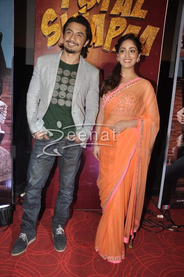 Yami Gautam In Designer Orange Saree