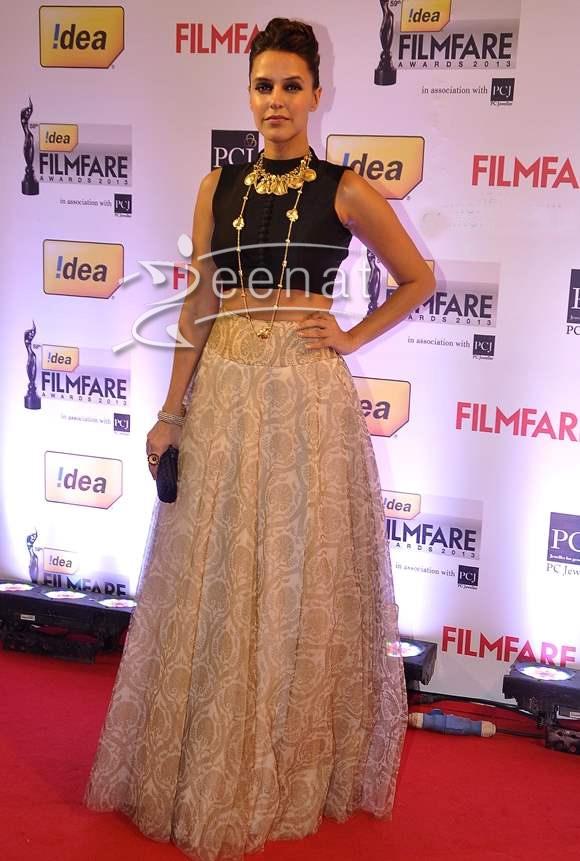 Neha Dhupia In Designer Lehenga Choli