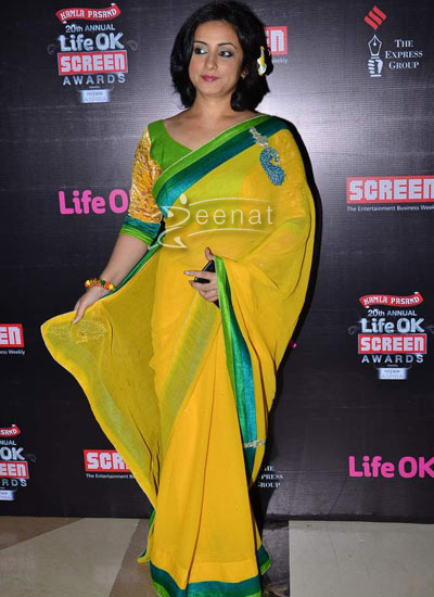 Divya Dutta In Designer Saree