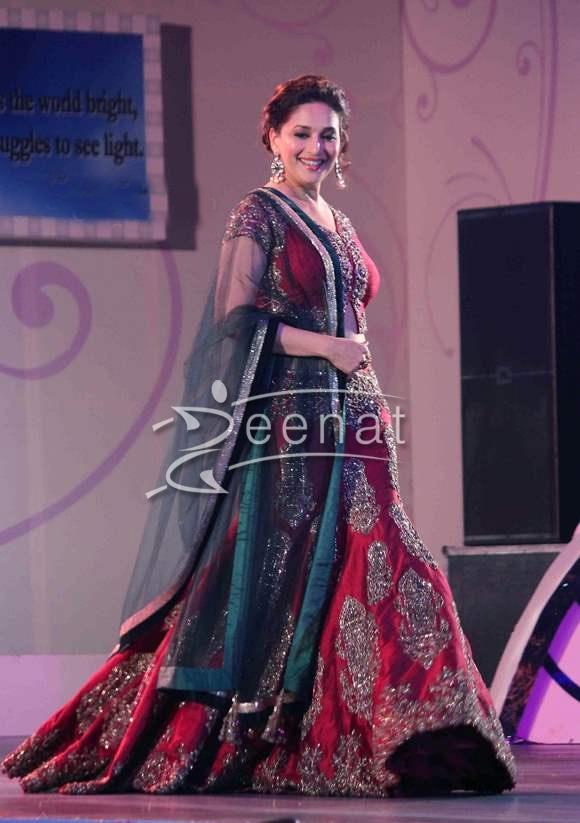 Madhuri Dixit In Designer Lehenga Choli