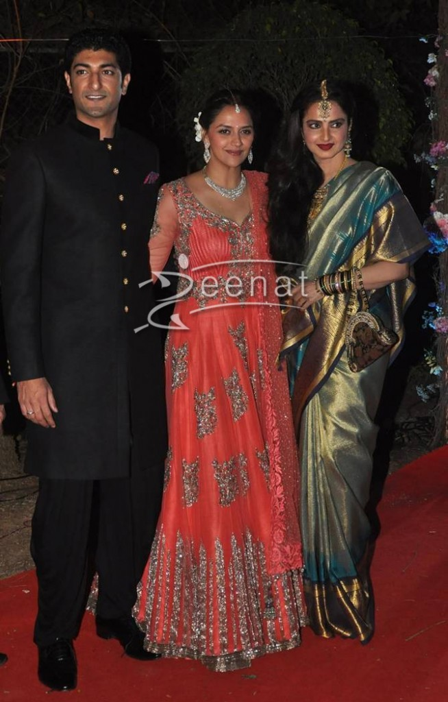 Rekha at Ahana Deol's Wedding Reception