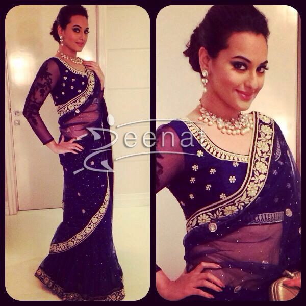 Sonakshi-Sinha-was-a-stunner-in-a-dark-blue-lehnga