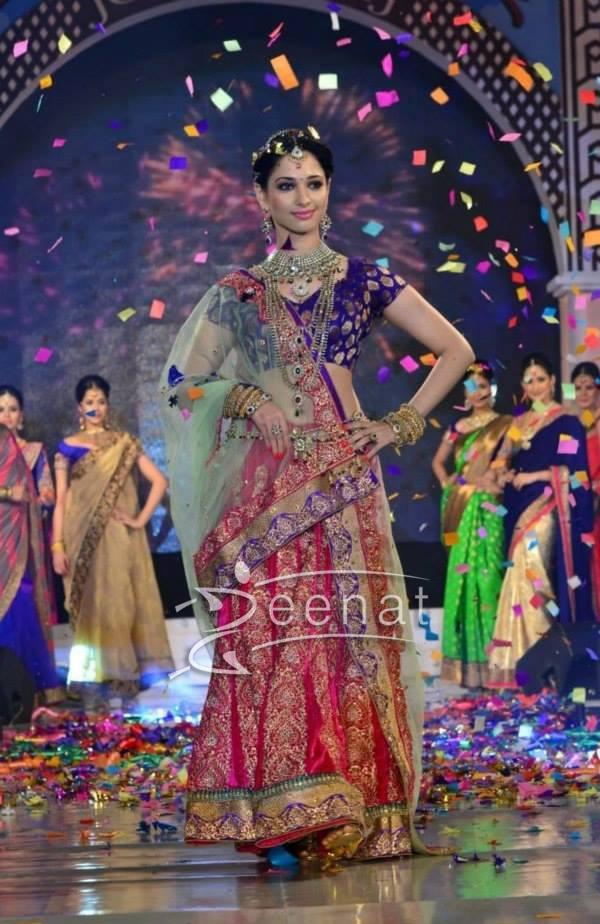 Tammana Bhatia In Designer Lehenga Choli Zeenat Style