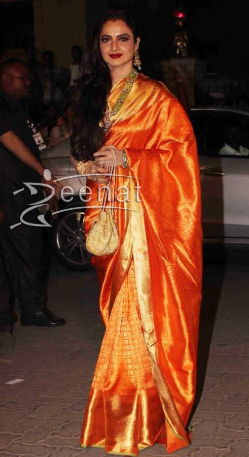 Rekha In Traditional Silk Saree Zeenat Style