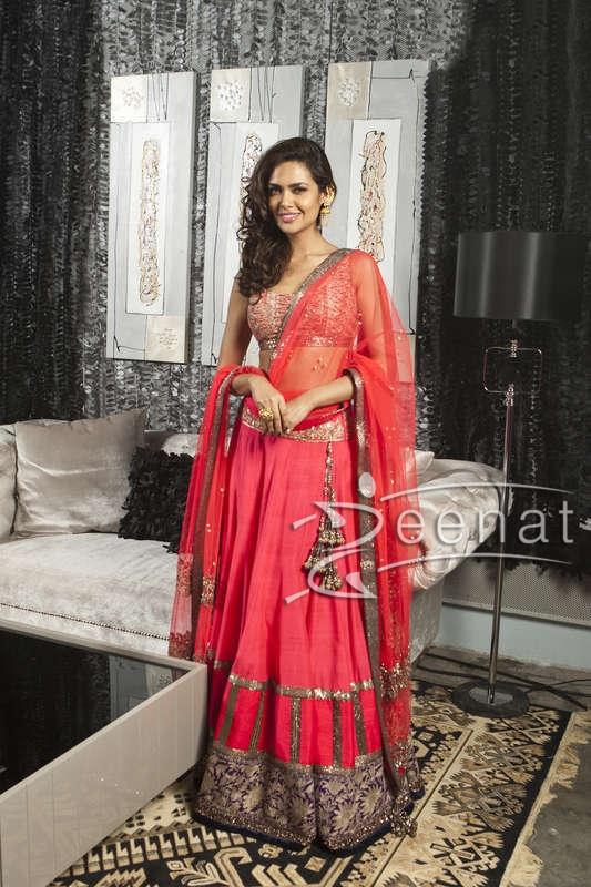 Esha-Gupta-in-Manish-Malhotra-Outfit-at-Masala-Awards-2013 (1)